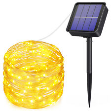 10m 100 LED Solar Powered Fairy String Lights Xmas Wedding Party Indoor&Outdoor