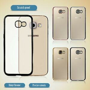FOR SAMSUNG GALAXY S8 / A5 2017 & MORE MODELS METALLIC EDGE GEL BACK CASE COVERS