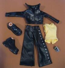"""Bratz 10"""" Boyz Boy Doll Outfit Clothes/Shoes-Black """"leather"""" Jacket/Pants radio"""
