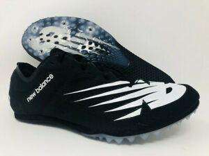 New Balance Men's Middle Distance 500 v7 Running Shoe, Black/White, 10 D(M) US