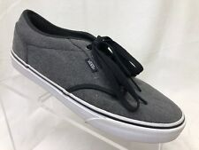 VANS Atwood Charcoal Gray Canvas Skateboarding Shoes Men's Size 9 E3