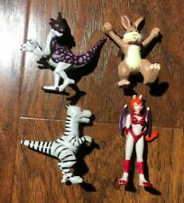 Monster Rancher Toy Figure lot 1999 Rare Pixie + 3 Figures