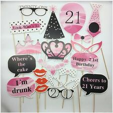21th Birthday Photo Booth Props DIY Kit Party Hen Photography Decor Supplies