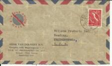 Suriname Sc#260(single frank) PARAMARIBO 24/II/59 commercial Airmail to USA
