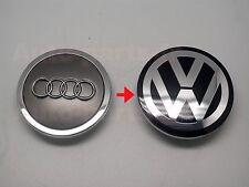 4x VW Emblem Center Caps 69mm for use on Audi Wheels Cover Hub 4B0 601 170A