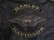 VINTAGE HARLEY DAVIDSON MOTORCRUISE DISTRESSED LEATHER JACKET - MEN'S LARGE !!