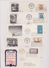 US FDC 1960 Year Set 36 First Day Covers All Cacheted With Addresses |