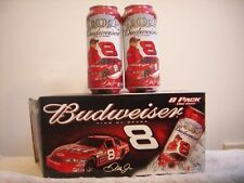 BUDWEISER #8  DALE EARNHARDT JR  / 8 pk of 16 oz. beer cans plus carton / #1 set
