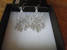 NIB DV ITALY EXQUISITE CHANDELIER EARRINGS W/ GENUINE CRYSTALS  - STUNNING!!