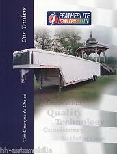 Prospekt Featherlite Anhänger brochure car trailers USA 1999 prospectus 1A!