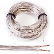 Cable de altavoz de 15m - 0.6mm 19 AWG Cable de audio de alta fidelidad coche Carrete Cca Alto Sonido Envolvente