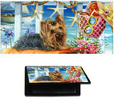 CHECKBOOK COVER YORKIE wallet w/ dog art Yorkshire Terrier painting check books