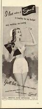 1951 vintage panties- lingerie ad, Spun-lo Rayon 'Undies' Nice art!- 051213