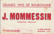 Buvard vintage grands vins de Bourgogne  J. Mommessin