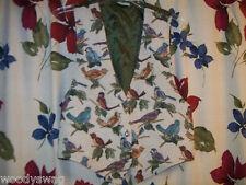 Backroad Blues Vest vintage Size S Hippie Retro Birds Free Ship Multi-Color