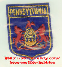 LMH Patch PENNSYLVANIA  Flag  COAT ARMS Commonwealth PA  Horse American Eagle RV