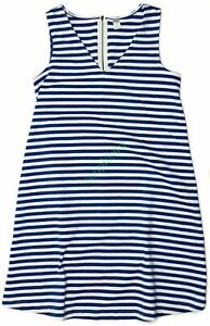 New Old Navy Maternity Sleeveless Blue Striped Ponte Dress Women's NWOT Size M