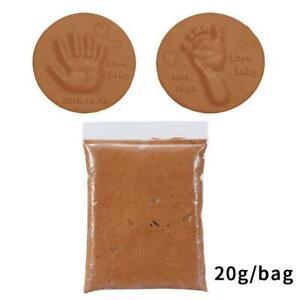 Soft Clay DIY Newborn Baby Hand Print/Footprint Memories - Non-toxic Clay Kit Ca
