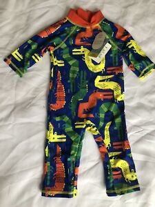 Baby Boys Full Body Swimming Costume Age 12-18 Months 40+ UPF