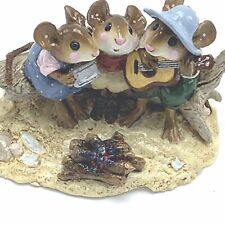 Wee Forest Folk Miniature Figurine A Folk Song M-297 Campfire Singing Guitar