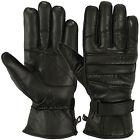 Mens Warm Winter Gloves Dressing Glove Linning Genuine Leather Black