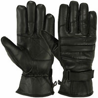 Mens Warm Winter Gloves Dress Motorcyle Cold Weather GloveThermal Lining Leather