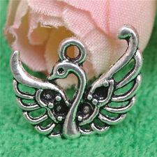 30pcs tibetan silver swan Fashion Charms Pendants Beads  14MM