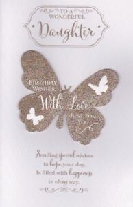 Daughter Birthday Card Large Special 8 Page Full Colour Verse Card