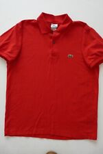 LACOSTE DESIGN IN FRANCE 100% COTTON RED POLO SHIRT sz 7 (M) NWOT