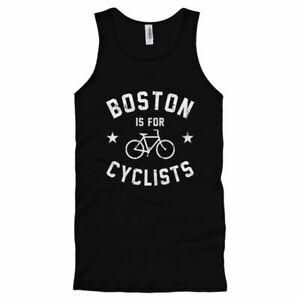 Boston Is For Cyclists Tank Top - Beantown Cycling Fitness - Men / Women - S-2X