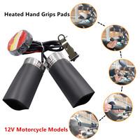 2*12V Universal Motorcycle Heated Hand Grips Pads Handlebar Heater Heating Film