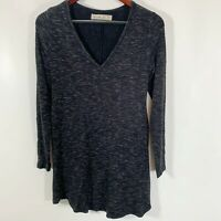 Abercrombie & Fitch Size XS Knit Tunic Top Heathered Black Long Stretch FLAW