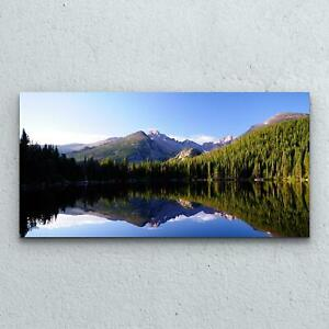 Tempered Glass Print Decoration  100x50 Lake at Rocky Mountain