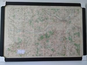 Newly Framed 1919 OS map Central Berkshire, S. Oxon and NE Hampshire - Antique