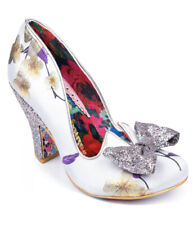 IRREGULAR CHOICE Nick of Time White Floral  Shoes *Brand New* size 37/4