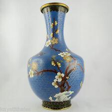 Ancien Vase Emaux Cloisonnés CHINE Asie/japonisant/ikebana/fleur cerisier/20th