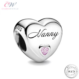 Nanny Charm Genuine 925 Sterling Silver -Grandparent / Best Nana /  Nan Gift  💞