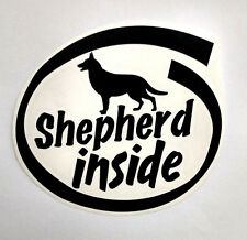 SHEPHERD police K9 search and rescue dog show STICKER crate window kennel DECAL