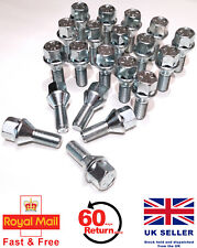 Alfa Romeo 166 alloy wheel bolts M12 x 1.25, 26mm thread, taper set of 20