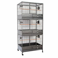 Triple Stackers Breeding Bird Parrot Cage Aviary Cockatiel Parrot 36x25x80