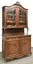 Antique Cabinet Buffet China, Louis XV Style, Oak Deux Corps, Handsome Piece!