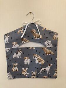 Large Peg Bag Handmade Fully Lined Dogs