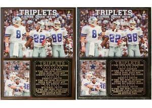 Dallas Cowboys Triplets Aikman Smith Irvin Photo Plaque