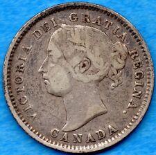 Canada 1888 10 Cents Ten Cent Silver Coin - Fine