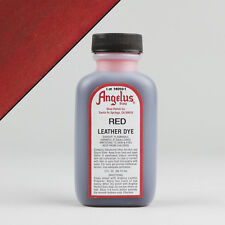 Angelus RED LEATHER DYE 3oz Bottle Industry Strength Dye Vibrant Colors