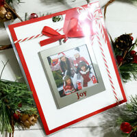 """Lenox Joy Picture Frame Ornament Silverplate 3.25"""" Christmas Holiday Gift Topper"""