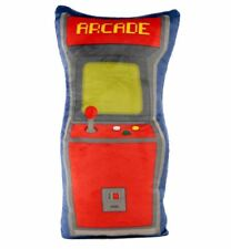 RETRO ARCADE CABINET GAMING SHAPED PLUSH SUPER SOFT CUSHION PILLOW NEW WITH TAGS