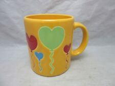 Waechtersbach Spain pottery coffee mug. HEART BALLOONS. Yellow