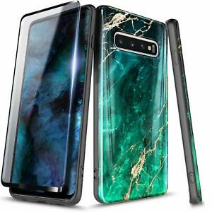 For Samsung Galaxy S10e S10 Plus Case with Screen Protector Slim Marble Cover