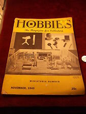 "#2 of 2, OLDER VTG NOVEMBER, 1943 ""HOBBIES, THE MAGAZINE FOR COLLECTORS"", WWII"